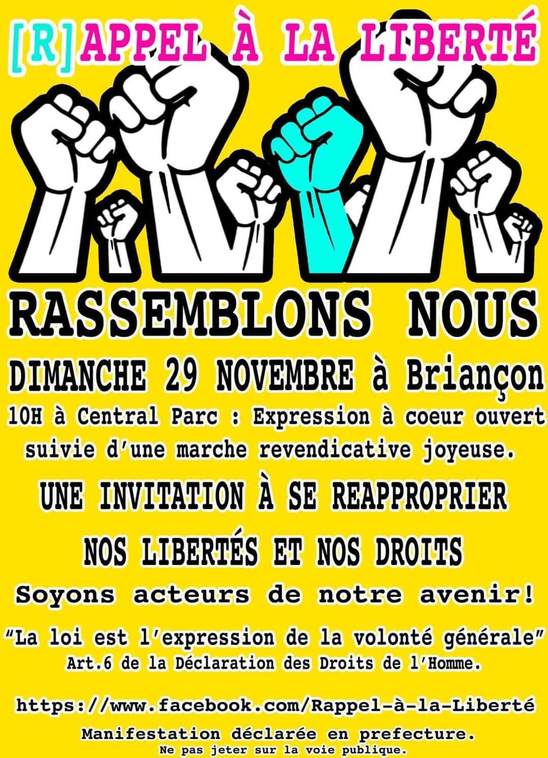 """Un """"Rappel à la liberté""""  à Briançon"""