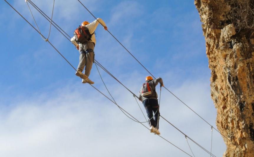 Les travaux de la via ferrata se poursuivent à Digne-les-Bains