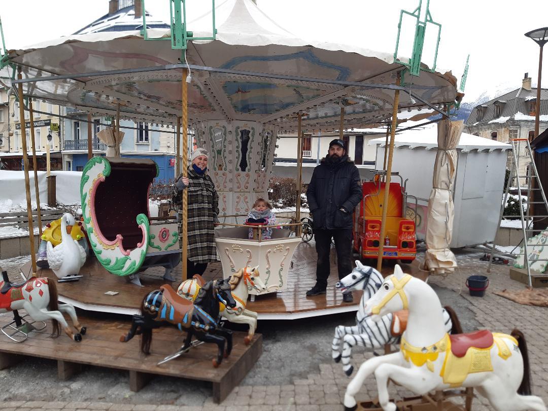 Un carrousel pour attendre Noël