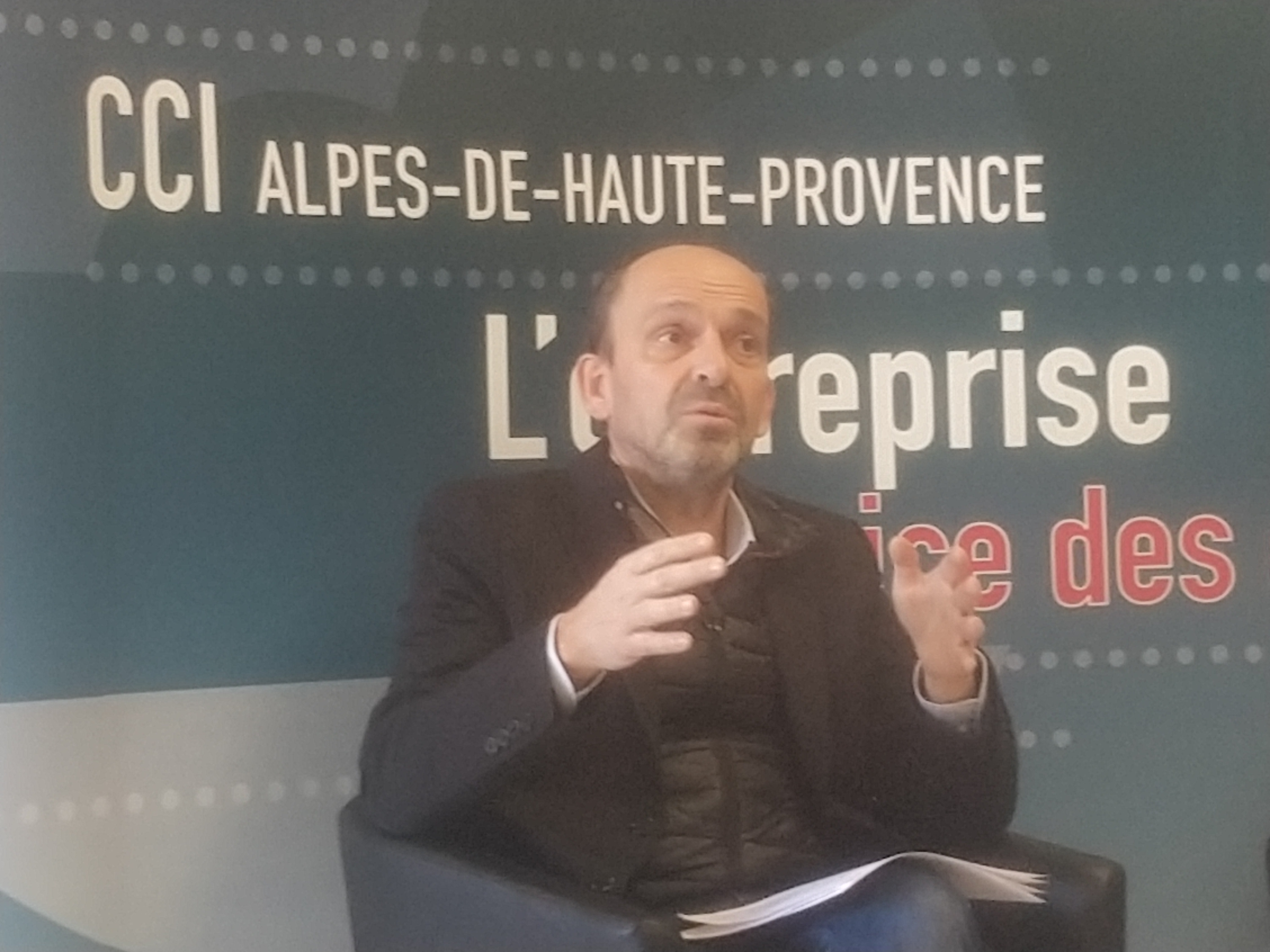 Daniel Margot, président de la Chambre de Commerce et d'Industrie des Alpes de Haute-Provence