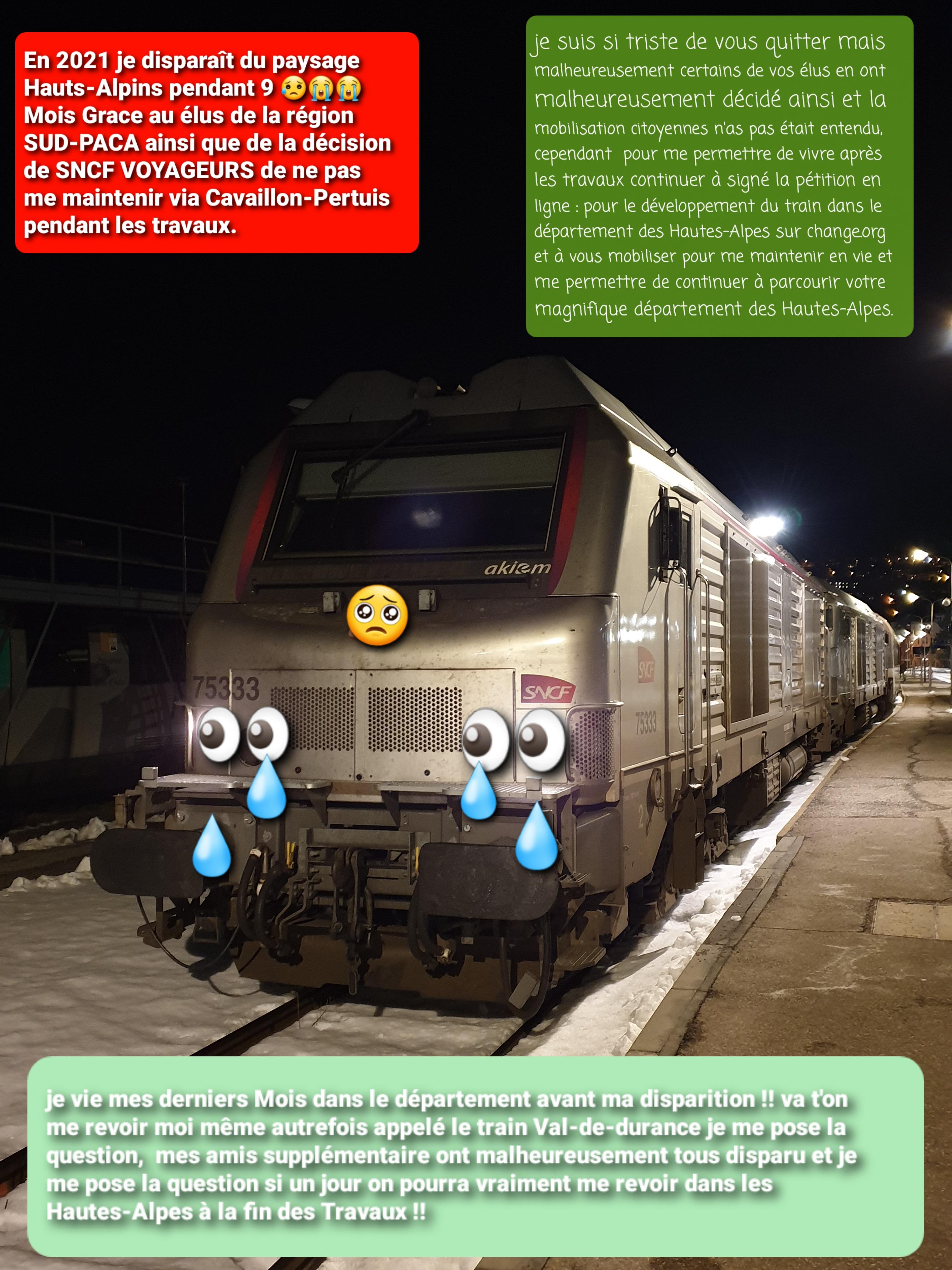 Le train de nuit Paris-Briançon, supprimé pendant 9 Mois