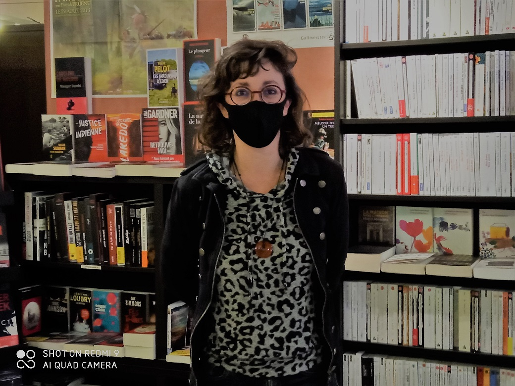 Dominique Gallard, libraire du Petit pois à Manosque