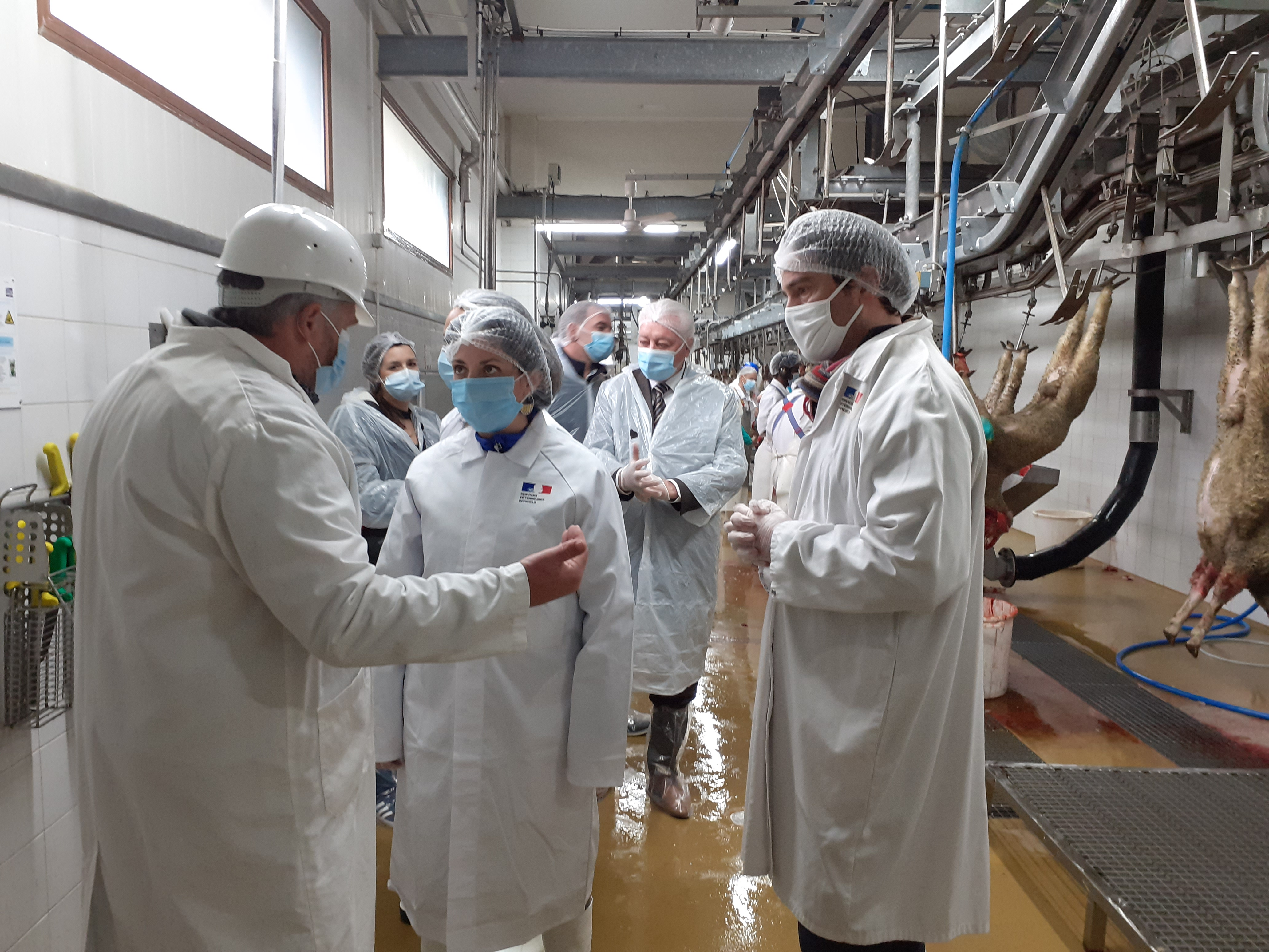 Visite Préfectorale à l'abattoir  Municipal de Sisteron.