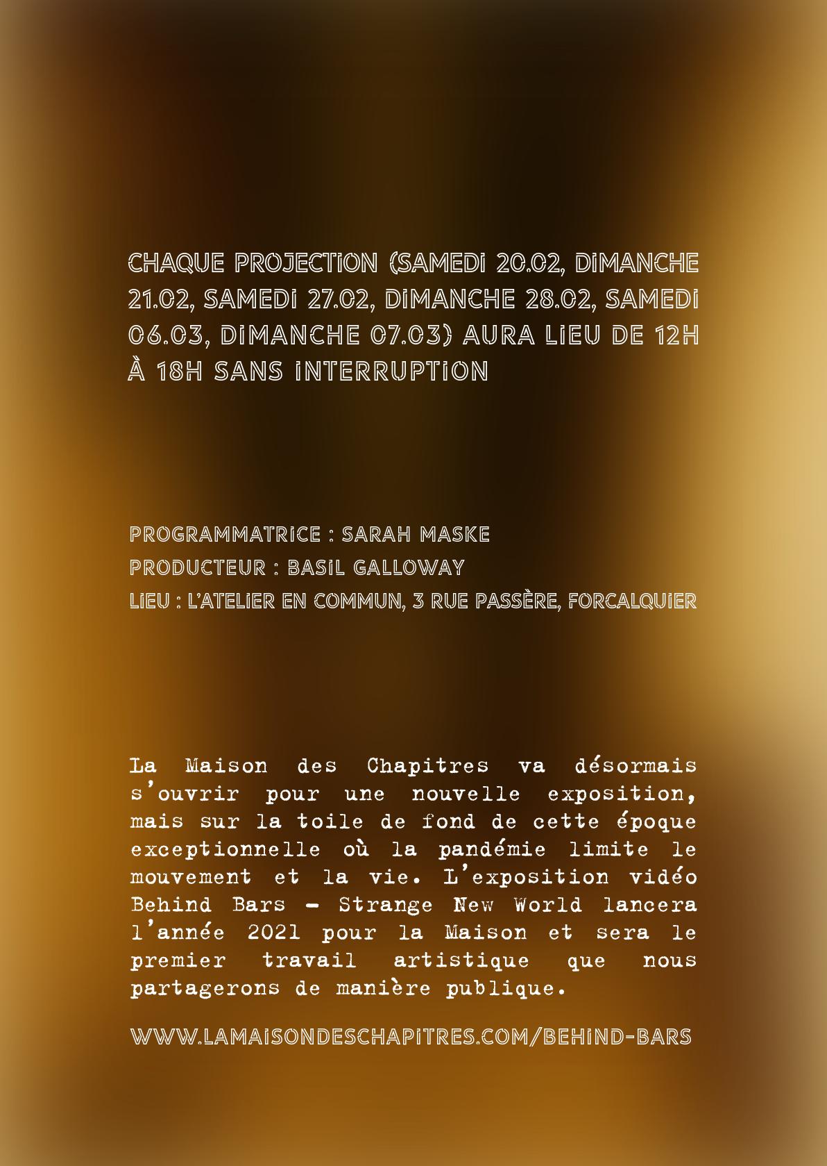Une exposition vidéo depuis la rue, à Forcalquier