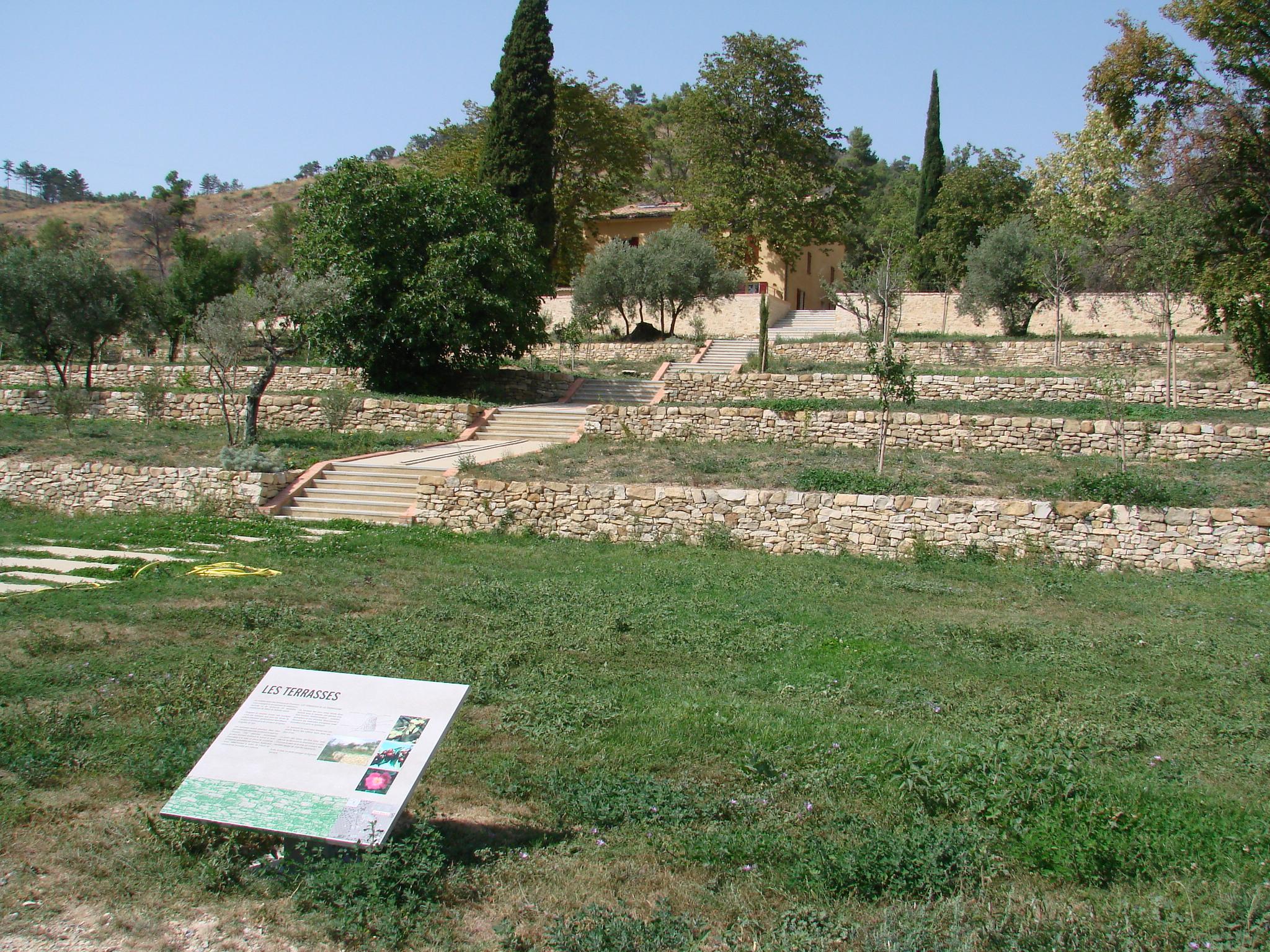 Terrasses de culture de La Thomassine – Maison de la biodiversité à Manosque (photo PNRL)