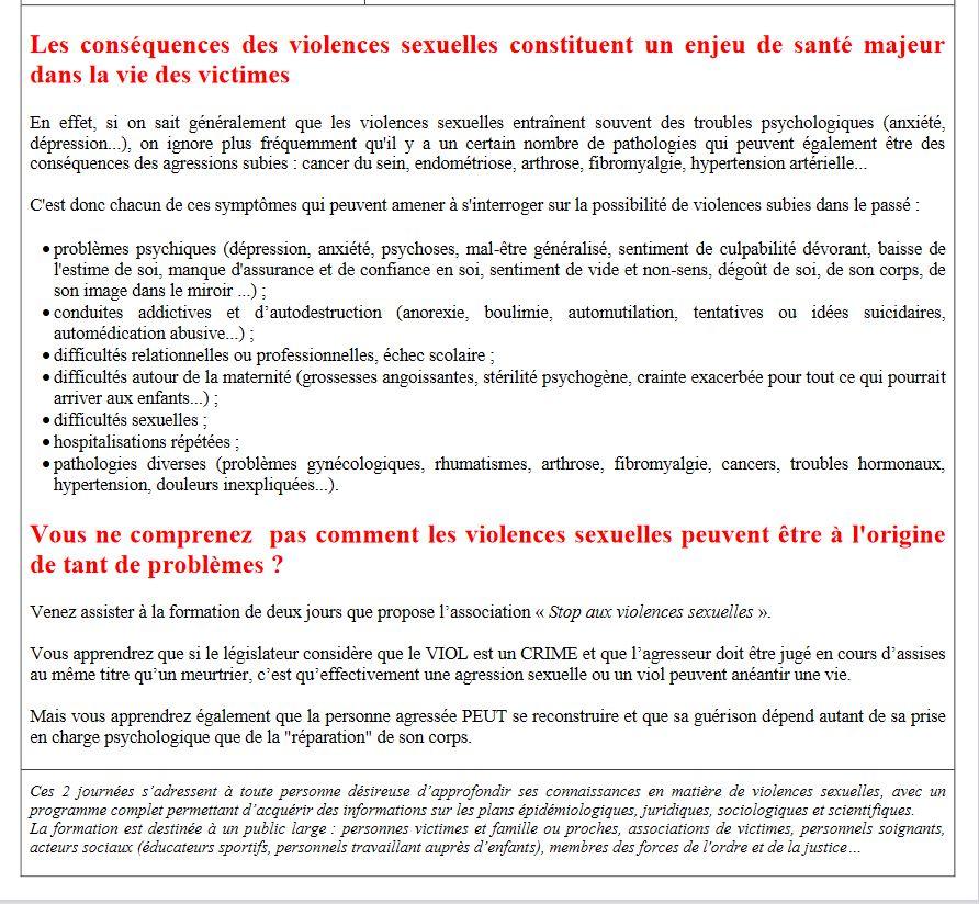 """2 jours de formation """"Stop aux violences sexuelles"""" à Forcalquier"""