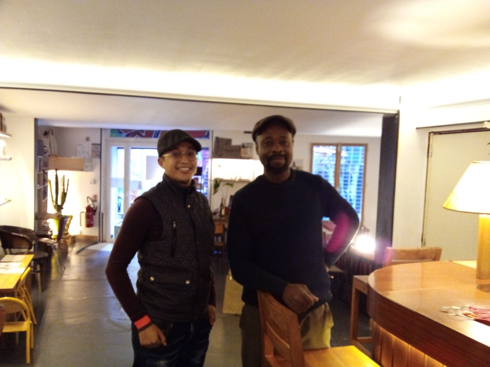 Abram Ag Sidiyene et Justin De Gonzague au local Ekonature