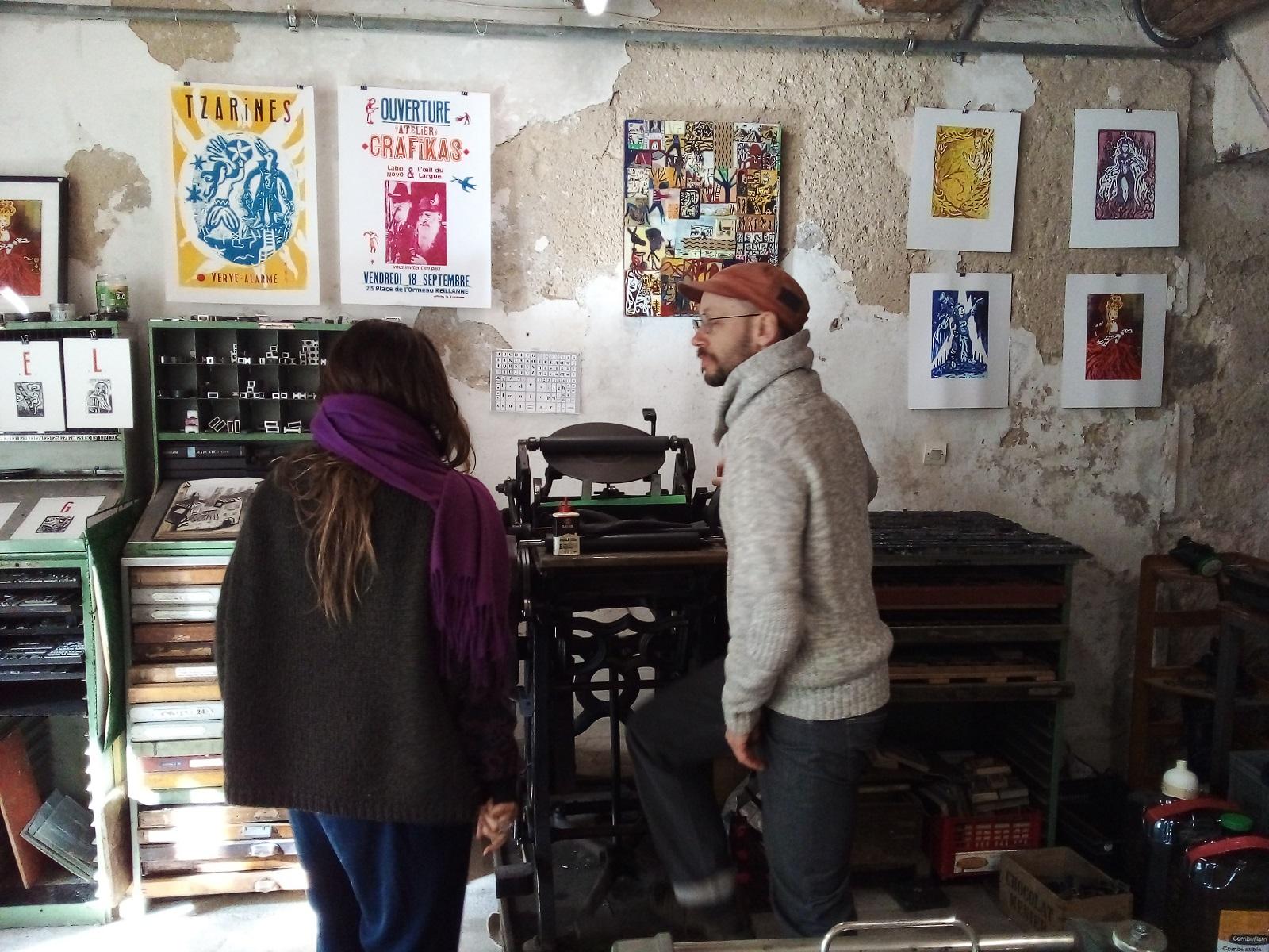 'Grafikas' un atelier de gravures à Reillanne