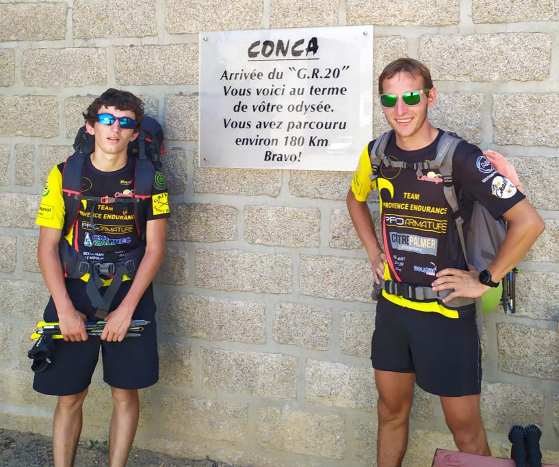 Pierre Bonef et Tim Jacquot en 2020 ont effectué 180 km. Objectif août 2021 GR 20 Aller-Retour donc 360 km en un temps record