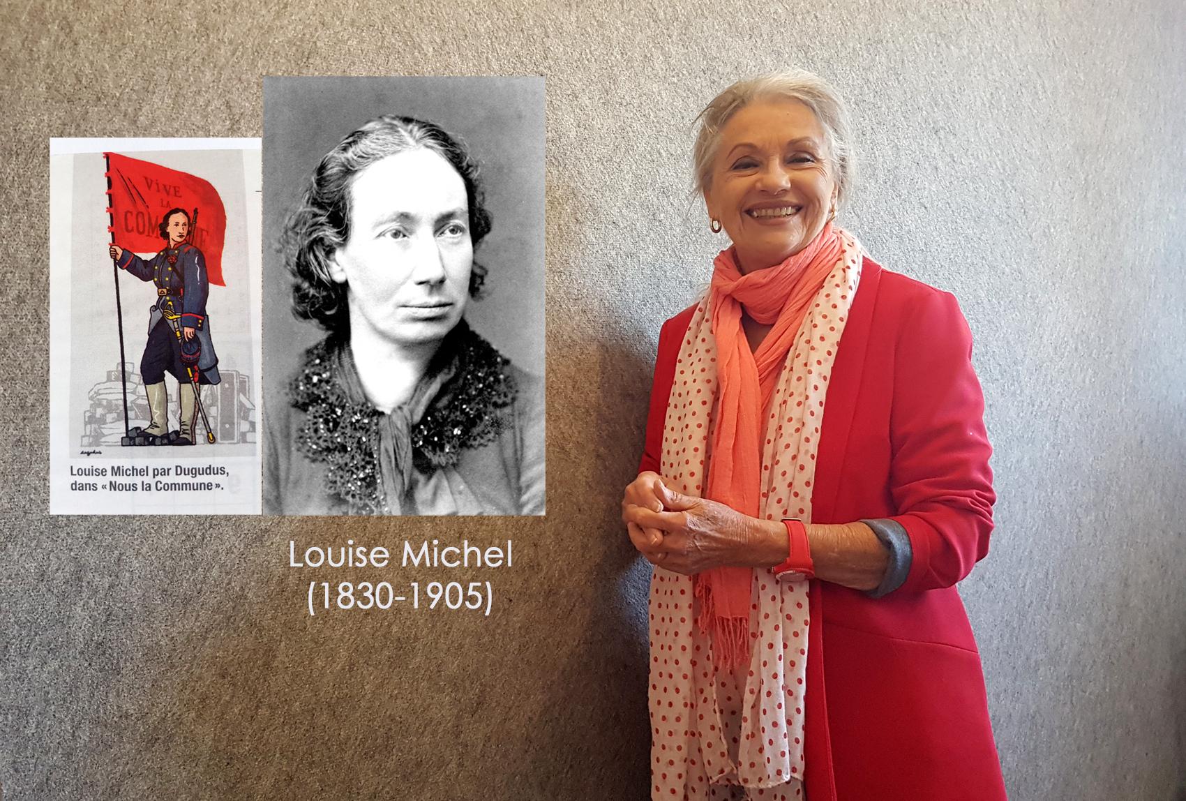 Louise Michel (1830-1905) et Jacqueline Hennegrave