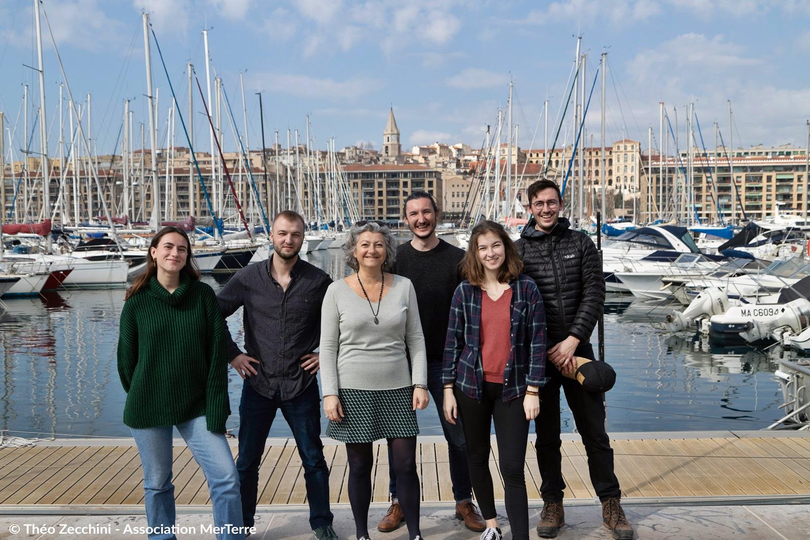 De gauche à droite : Laurine Fouquereau, Melvin Perrottet, Isabelle Poitou, Florian Cornu, Inès Girault, Théo Zecchini -  ©Théo Zecchini