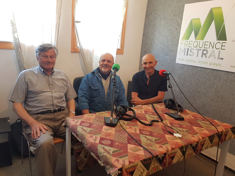 de gauche à droite Guy Jampierre - Pierre Barboni et Jacques Bec