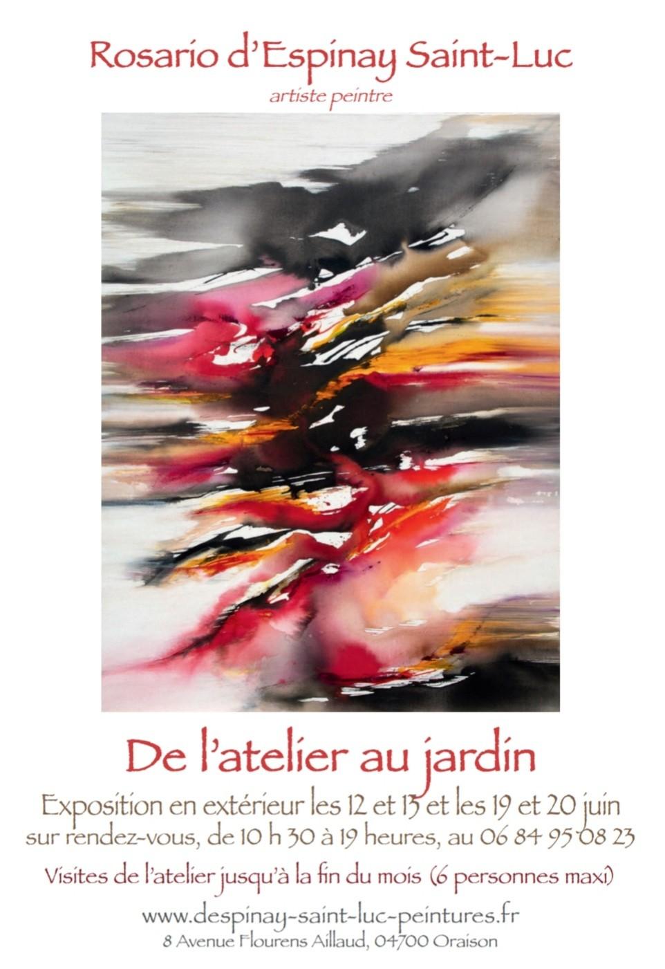 Exposition De l'atelier au jardin de Rosario d'Espinay Saint-Luc