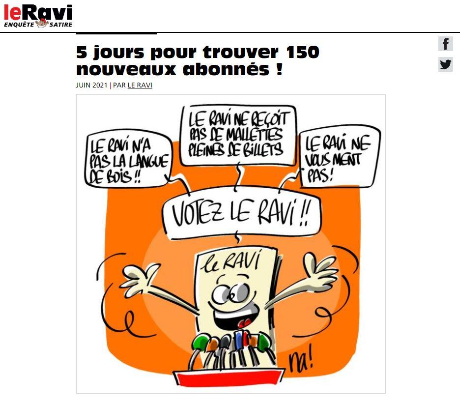 Soutenez Le Ravi !