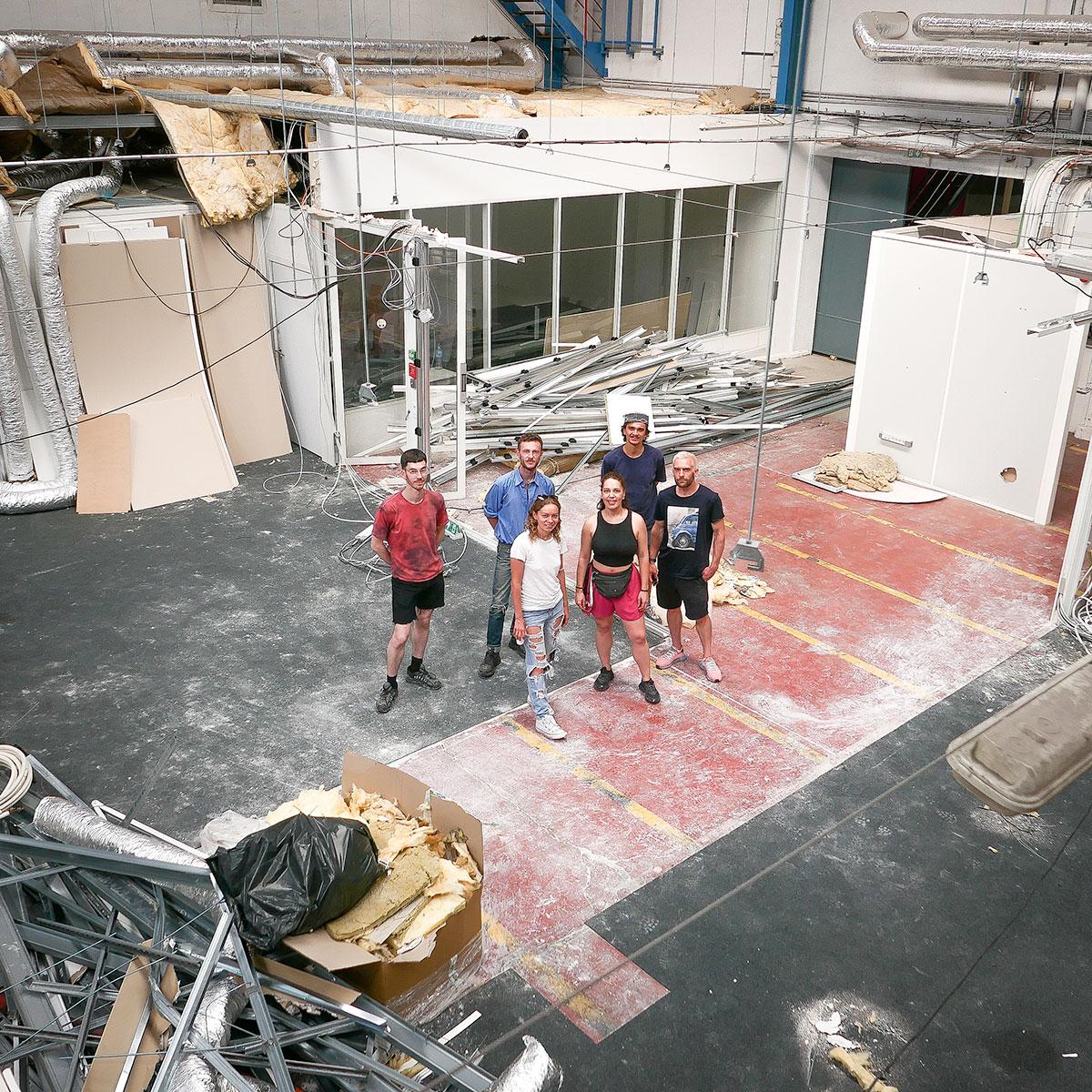 Quentin Dupuy, Clément Pelisson, Gabriel Bercolano, Smith.367, Olga Shalashova, Lor-k ______   © photo : Stéphane Carricondo