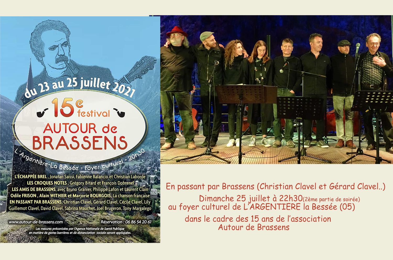 En passant par Brassens en concert à l'Argentière la Bessée le 25 juillet 2021