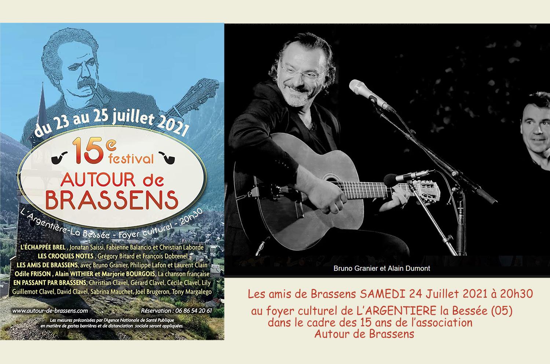 Bruno Granier interprète Brassens au Festival de l'Argentière la Bessée (05)