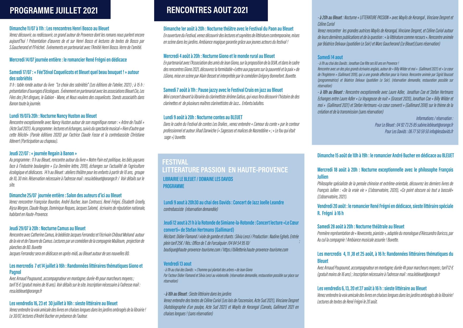"""Le festival littérature """"Passion"""" en Haute-Provence"""