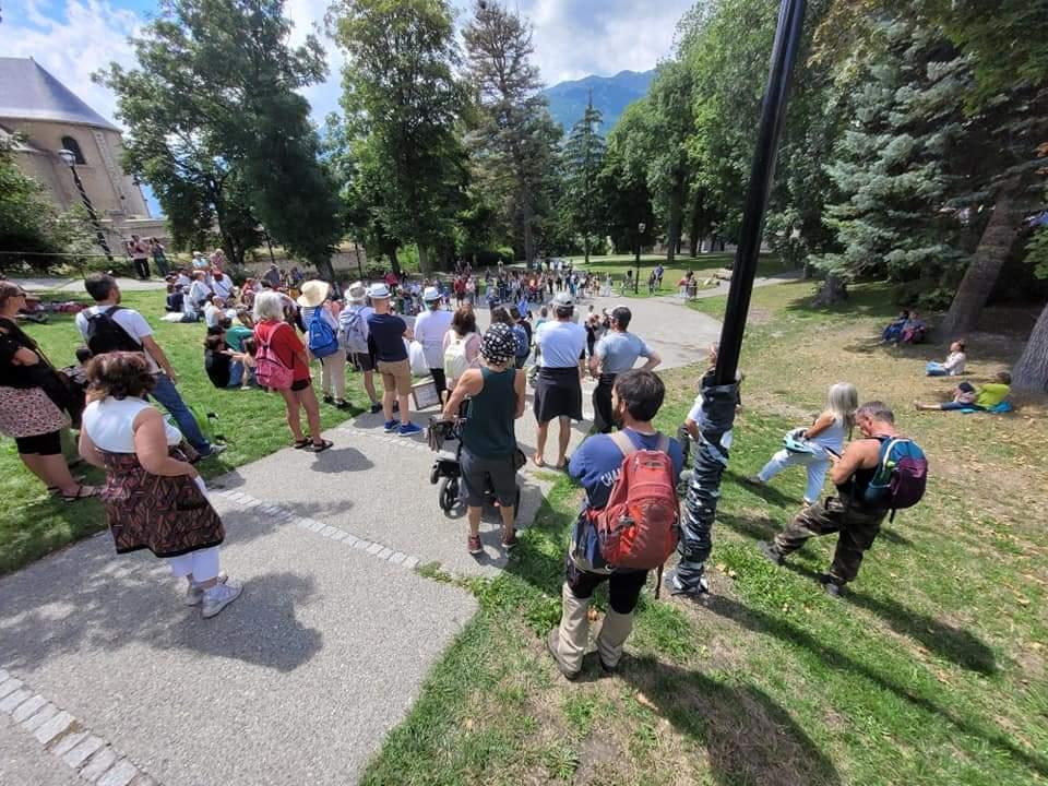 Mobilisation anti-pass sanitaire en hausse à Briançon