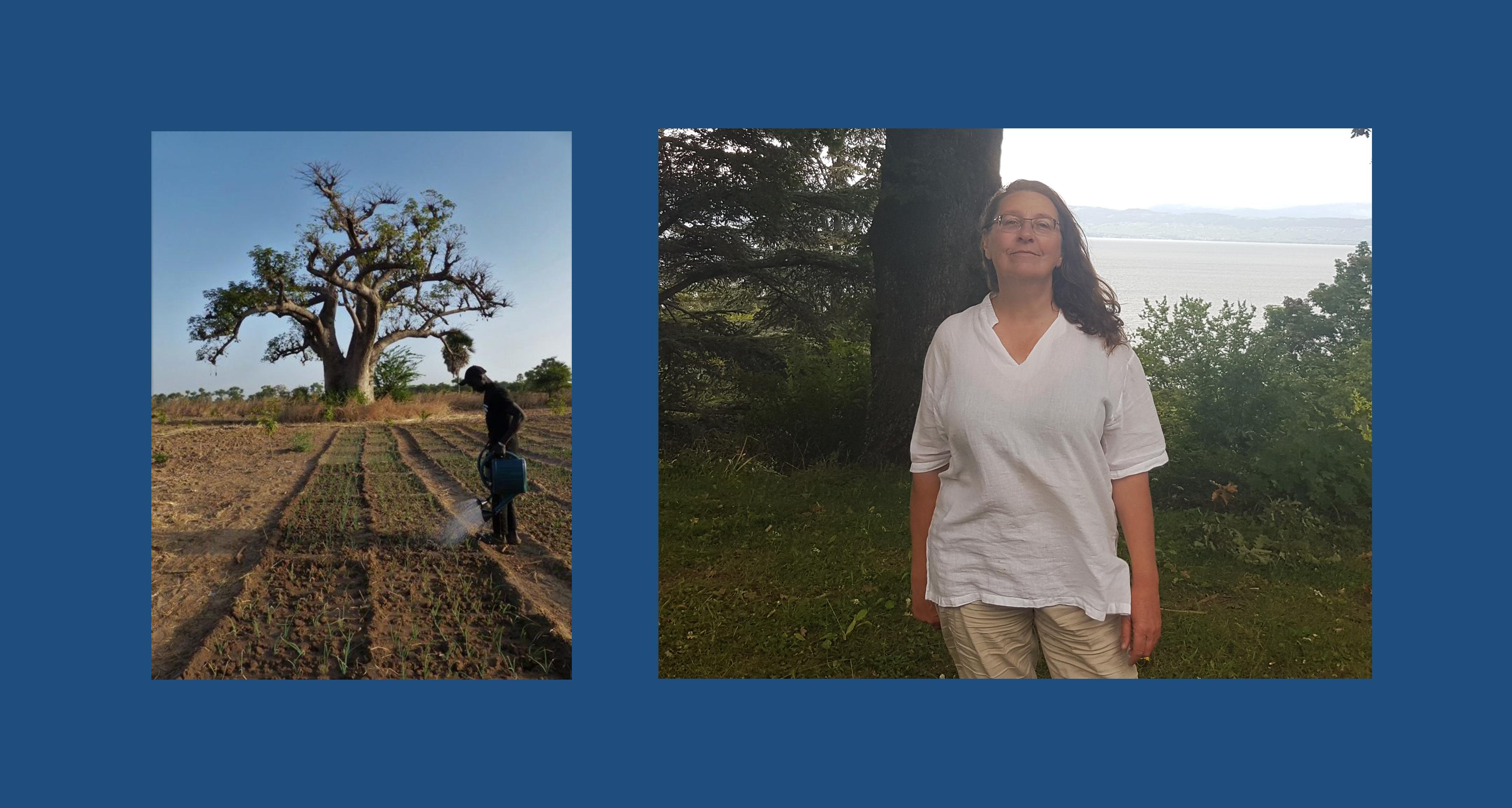 Marie Amand Présidente des Amis de Jardins d'Afrique