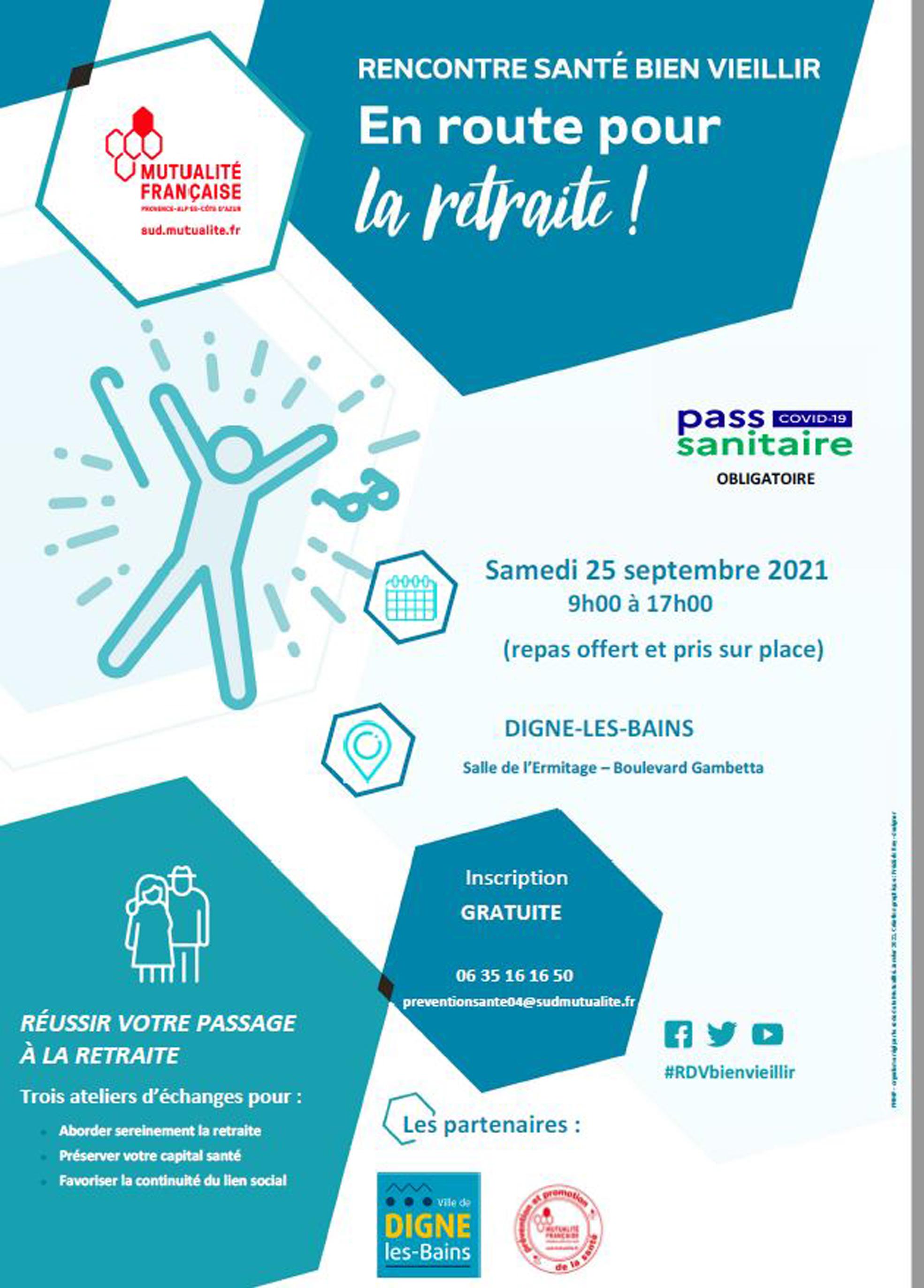 La mutualité française organise un stage de préparation à la retraite