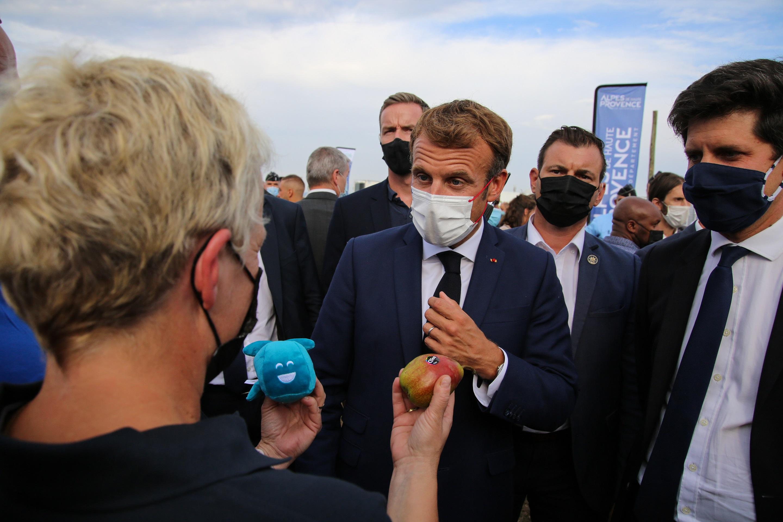 Le président Emmanuel Macron sur les terres de Jim