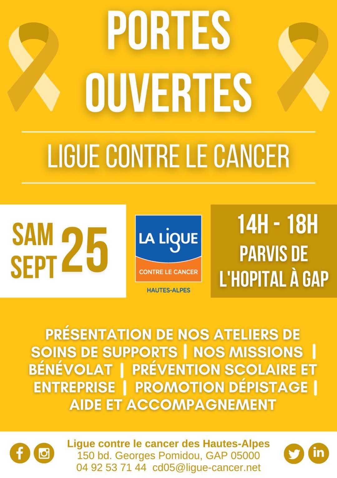 La ligue contre le cancer vous donne rendez-vous le 25 septembre