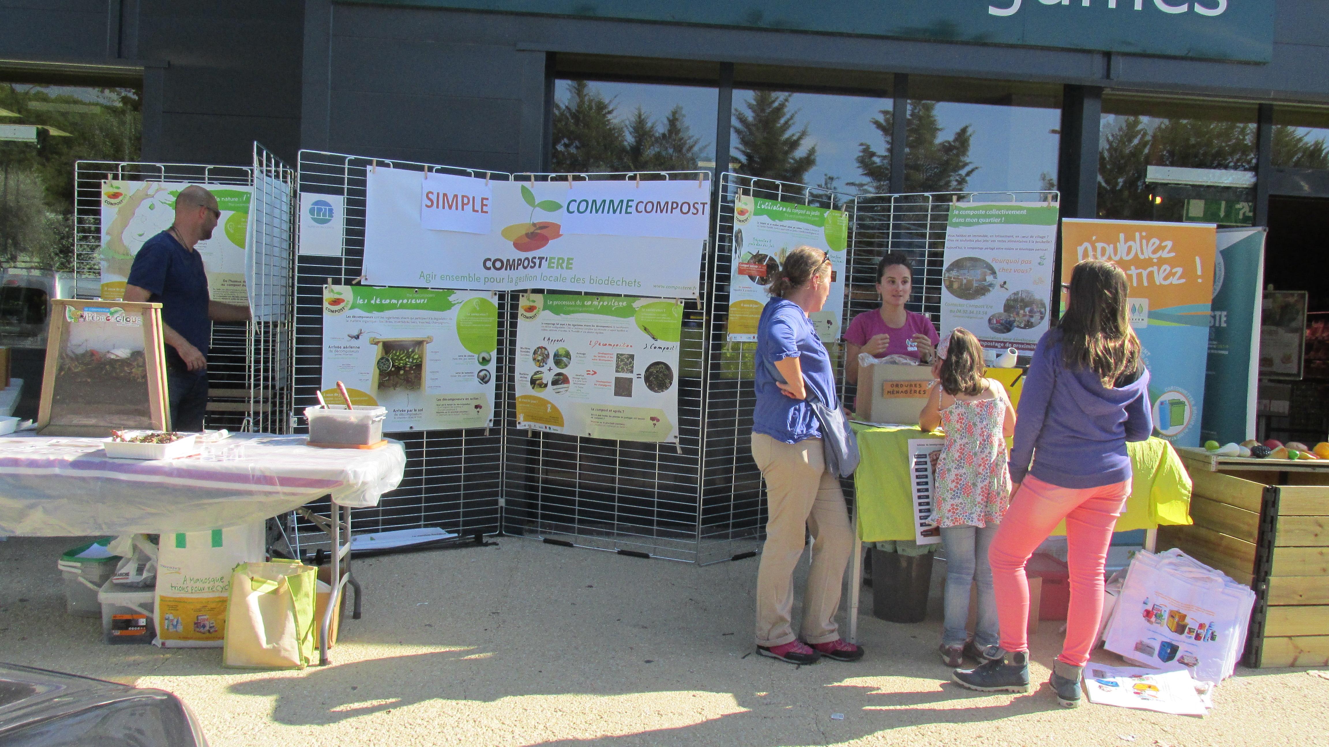 Une journée de communication sur le compostage a eu lieu à Digne
