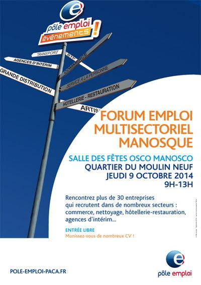 Manosque accueillait hier un Forum de recrutement de Pôle Emploi…