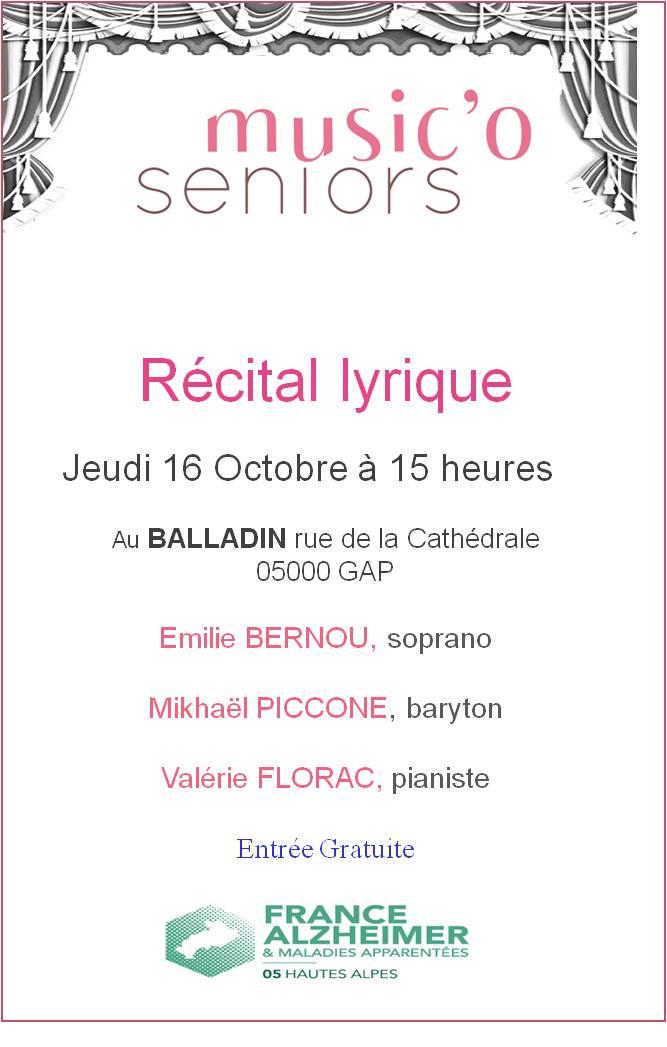 Concert Lyrique ce jeudi au Baladin à Gap
