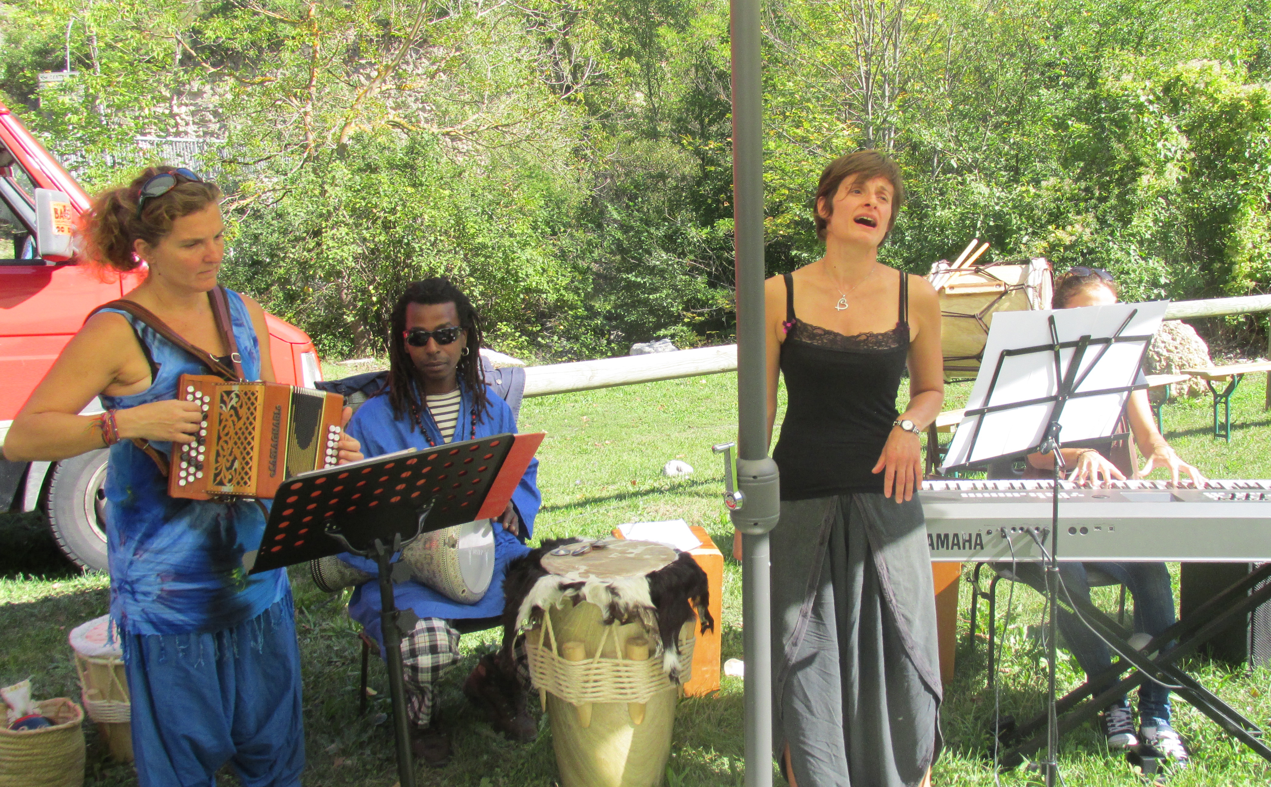 La musique était présente à l'inauguration des jardins solidaires dignois