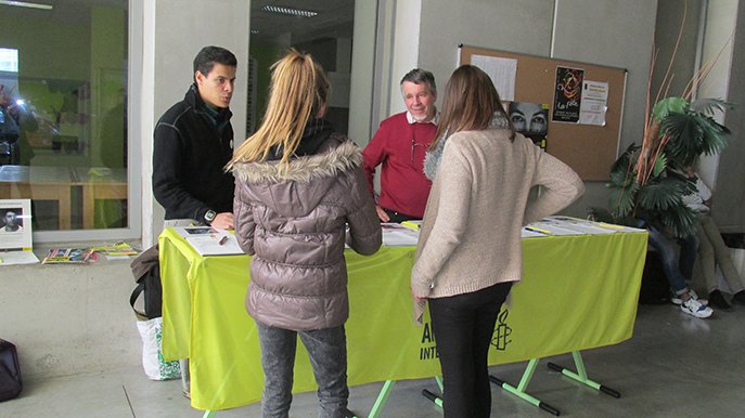 La campagne 10 jours pour signer d'Amnesty International était au lycée Beau de Rochas