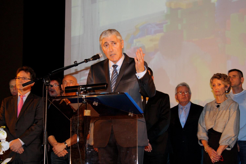 Patrick Martellini a présenté ses vœux hier à Château-Arnoux !