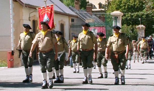 Les anciens du 159eme régiment d'infanterie sont bien présents à Briancon!!