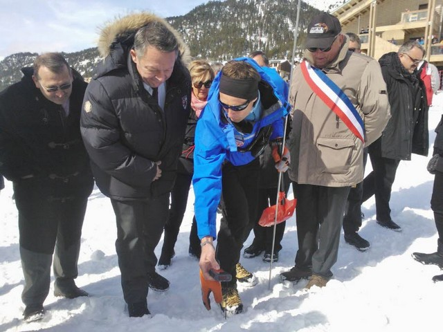 Le Secrétaire d'Etat aux Sports Thierry Braillard était en visite à Briançon ce week-end.