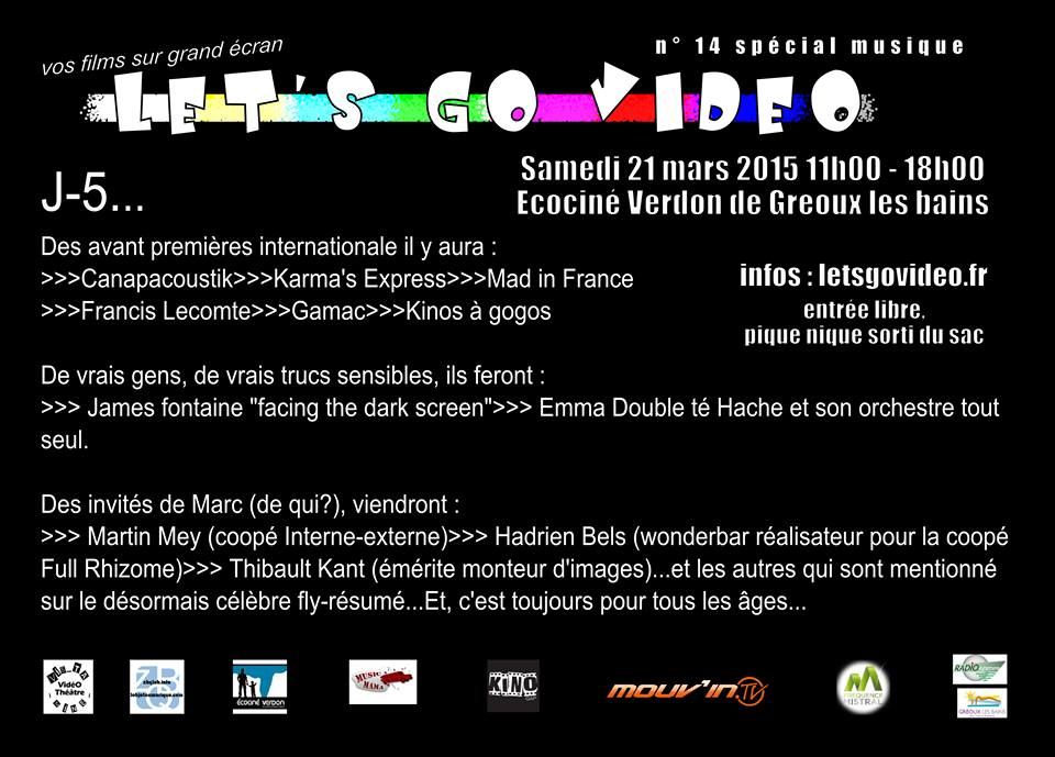 Des vidéastes inspirés par la musique ce samedi à Gréoux
