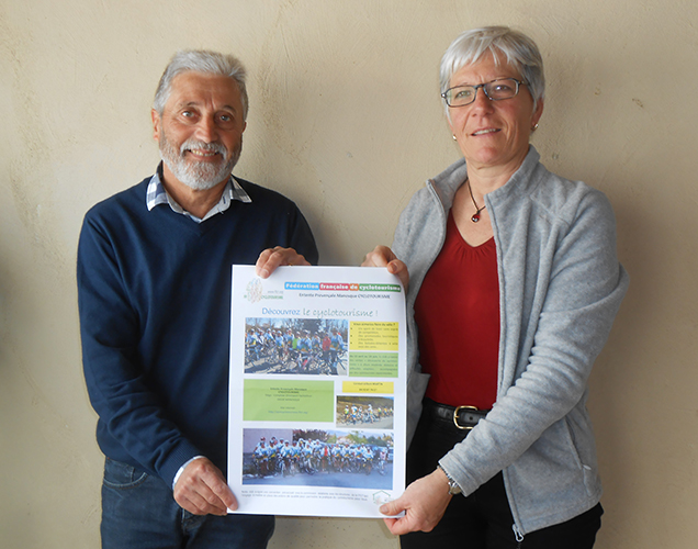 Brigitte Mermet et Gilbert Martin de l'EPM cyclotourisme Manosque proposent dix sorties gratuites