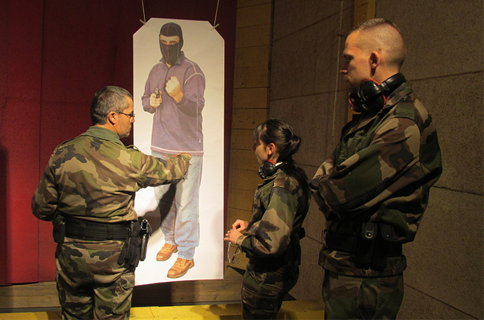 Nous avons assisté à l'entrainement des réservistes de la gendarmerie à Digne