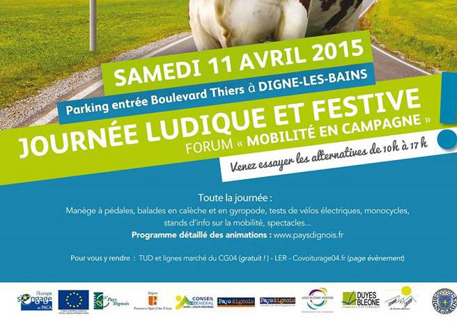 Mobilité en campagne au programme d'une journée festive à Digne