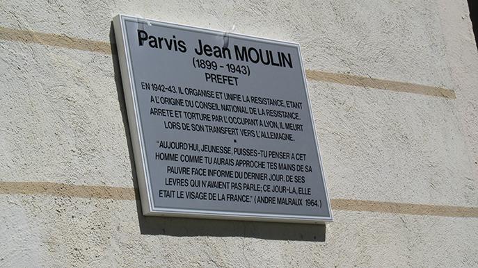 Inauguration du parvis Jean Moulin : hommage à ce héros de la Résistance