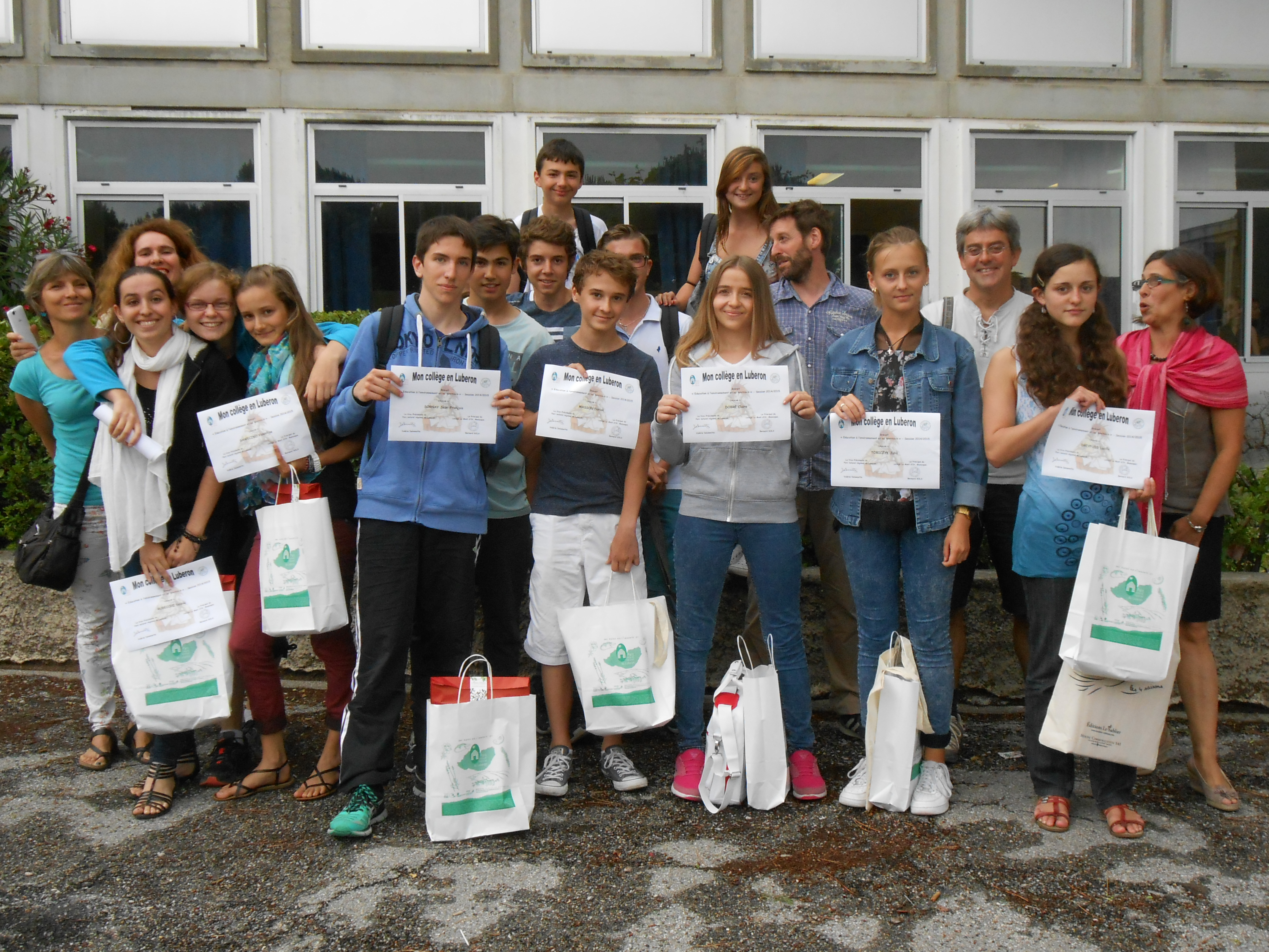 Le Mont d'Or à Manosque récompensé pour « Mon collège en Luberon »