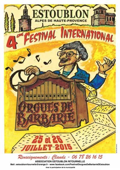 Les orgues de barbarie vont envahir les rues d'Estoublon