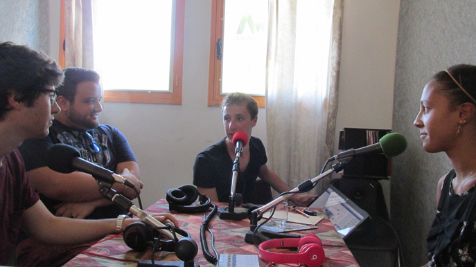 De gauche à droite Simon, Jonathan, Dimitri et Melissa
