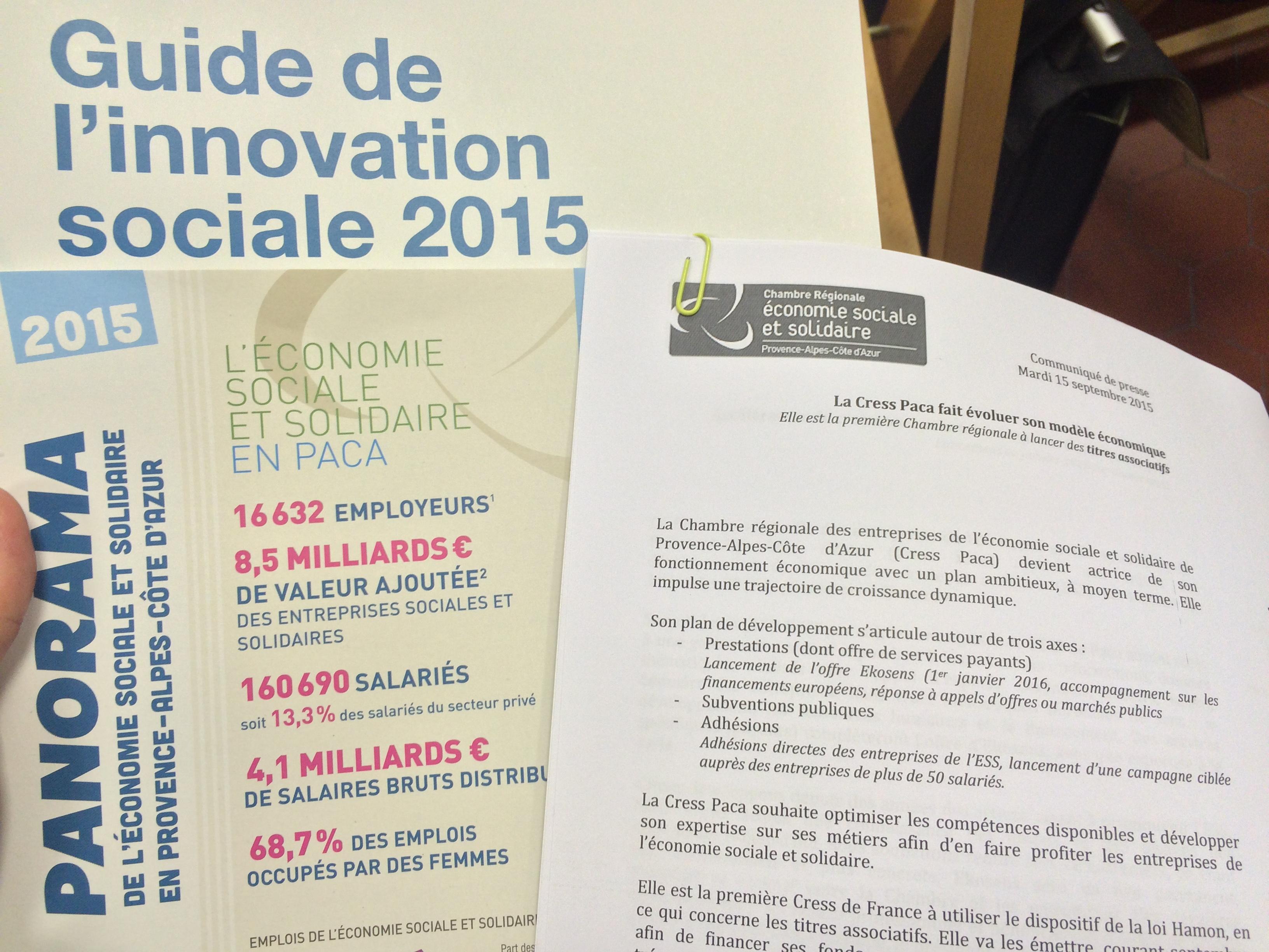 Economie Sociale et Solidaire : Rentrée de la CRESS PACA