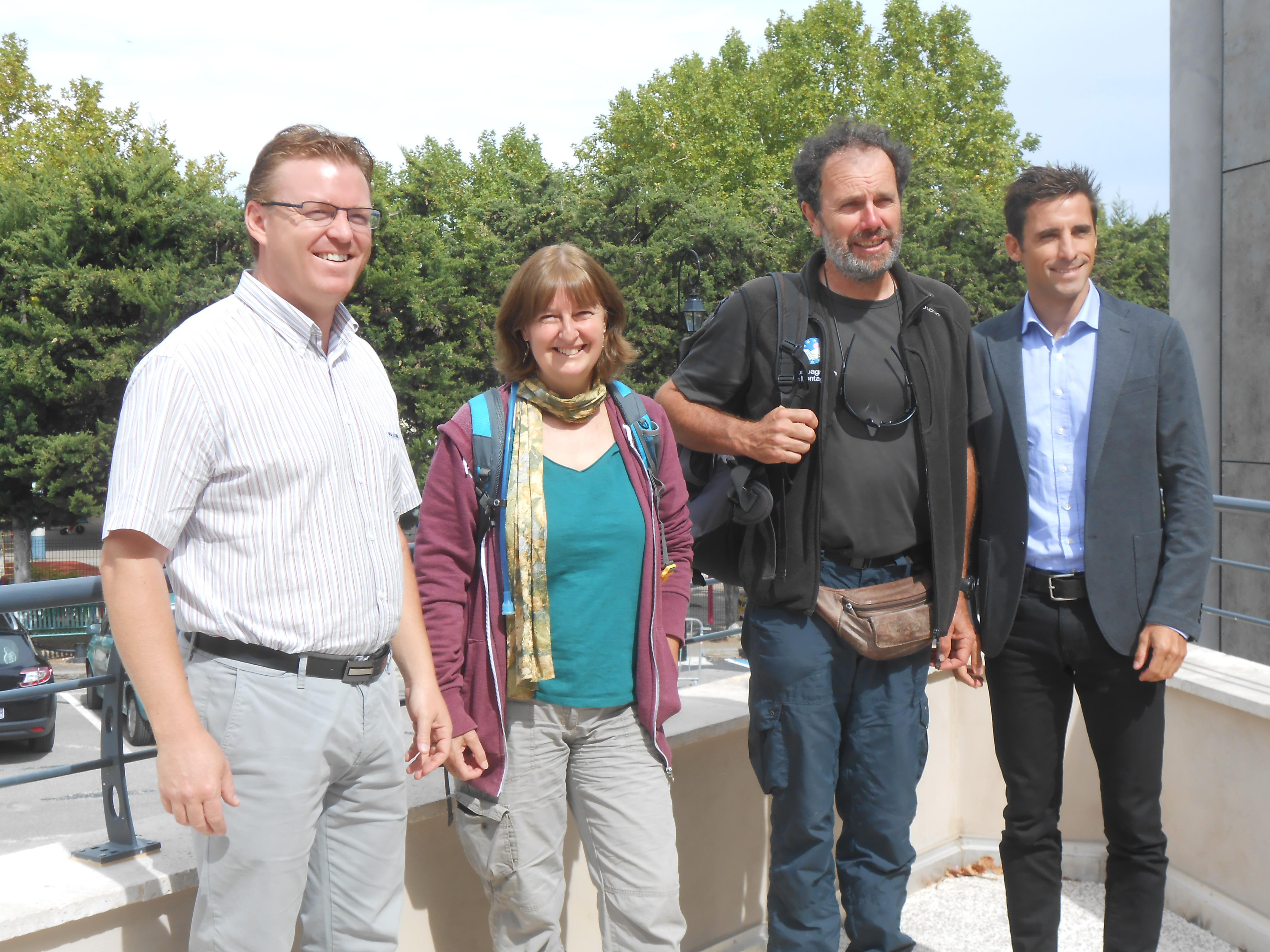 Jean-Frédéric Gonthier, Isabelle Murach, Pierre Paillat et Régis Bouron, responsable communication  des Thermes@Camille Garcia