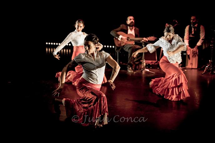 Un spectacle de flamenco maravilloso pour l'école de Sophie Barberan