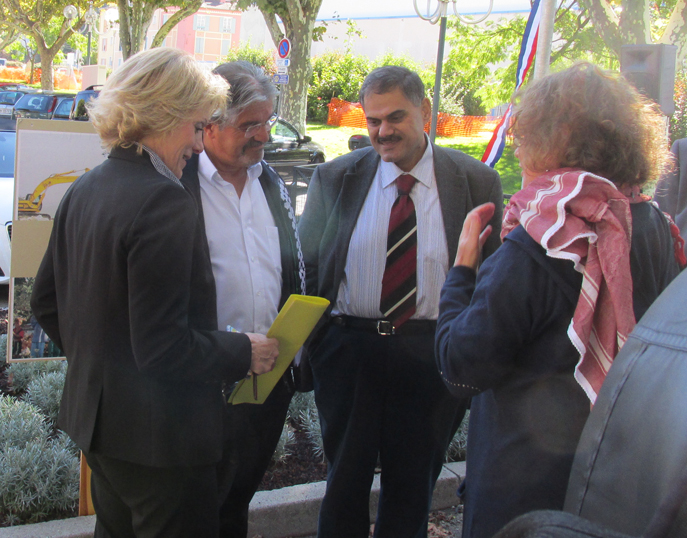 Hassan Balawi, plaide pour la reconnaissance d'un état palestinien par la France