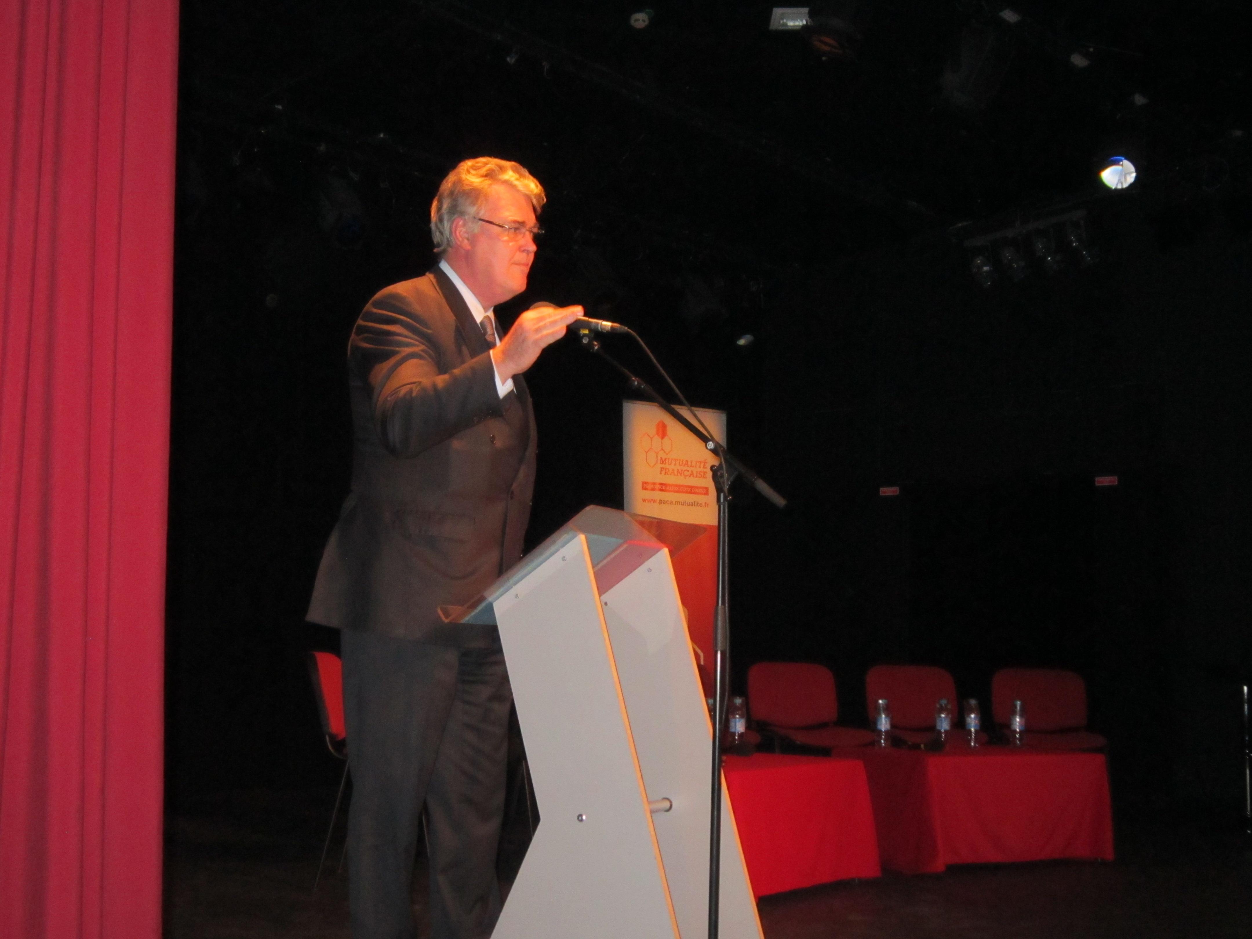 Président du CESE, Jean-Paul Delevoye à Gap