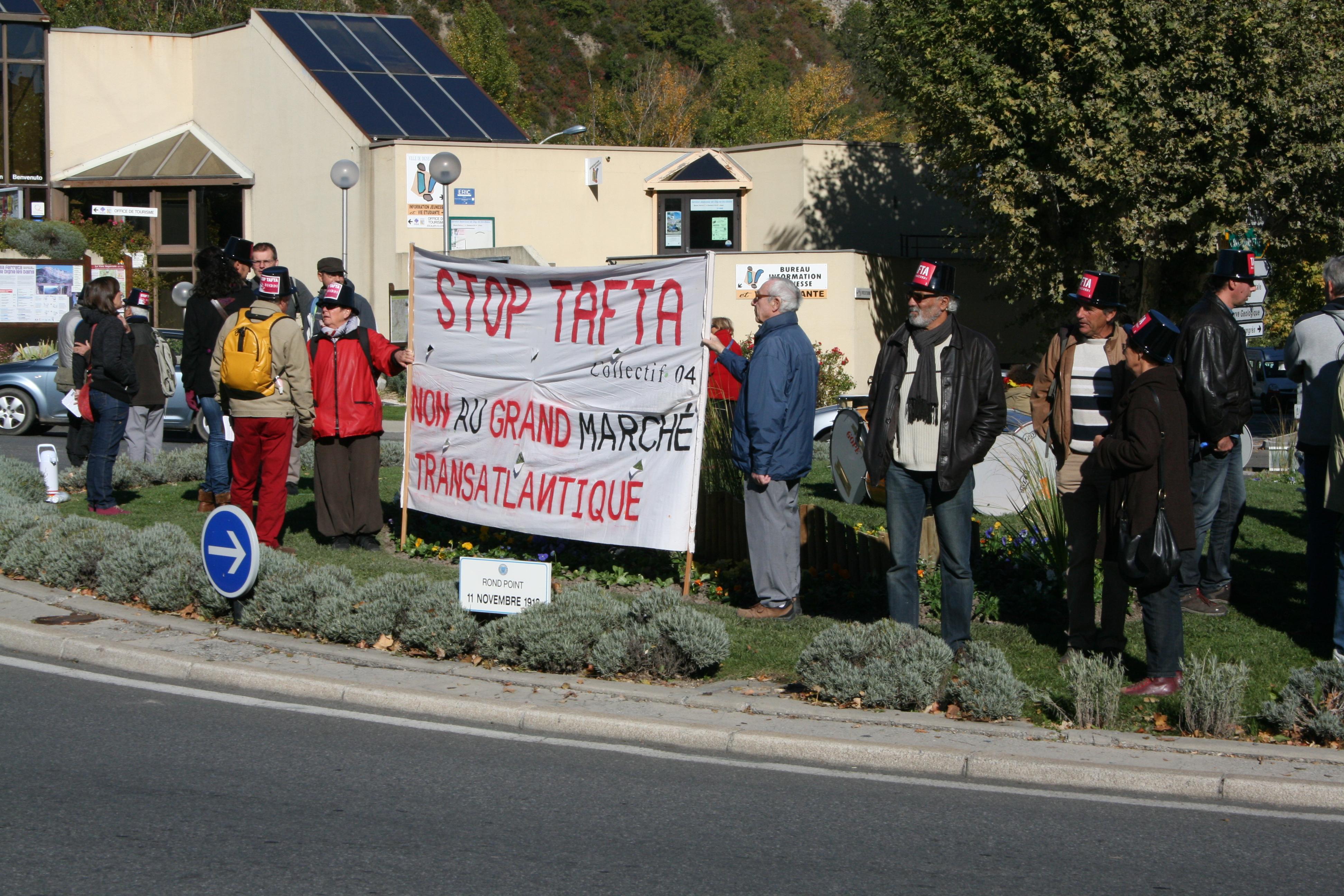 Un rassemblement pour informer sur TAFTA, ce traité méconnu des citoyens