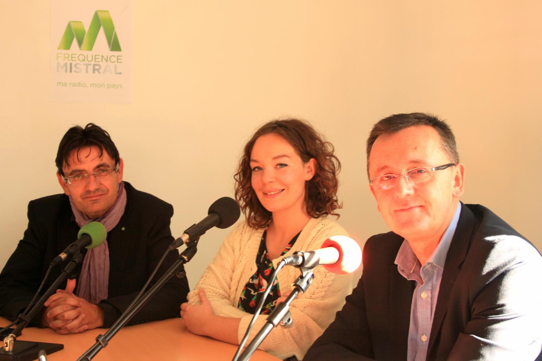 Jean-Luc Icard, Camille Garcia et Vincent David.